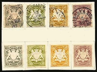 Germany States Bavaria 1900 MH/Used - Sets Defins State Arms  - Mi-65-68