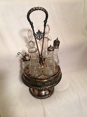 Antique Cruet Set by Meriden very Ornate