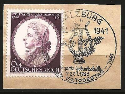 Germany (Third Reich) 1941 150th Death Anniv W.A. Mozart Salzburg Cancellation
