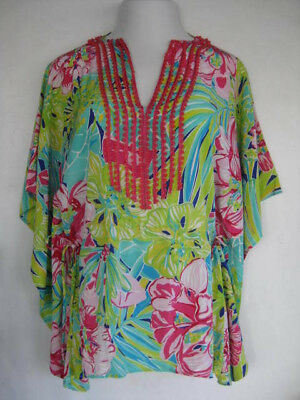 9bd89dfcd20922 Lilly Pulitzer beaded Caftan top-small/medium-large too-tropical print-