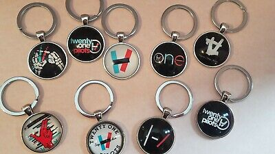 Twenty One Pilots Keychain with Dome Glass Cabochon Key chain for backpacks etc