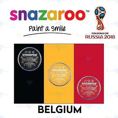 Snazaroo Football Belgium World Cup Red & White Set Face & Body Paint Make Up