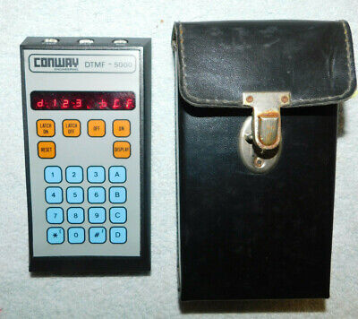 Conway DTMF-5000 Dual Tone Test Set Meter Works Great