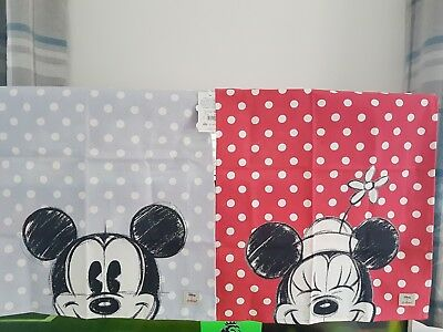 BNWT Disney x Cath Kidston Placement Tea Towel- Mickey & Minnie Set