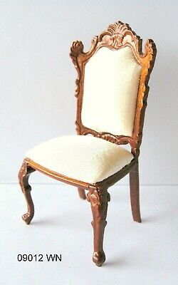Dollhouse Miniatures Furniture 1//12 12080wn Walnut Upholstered Chair