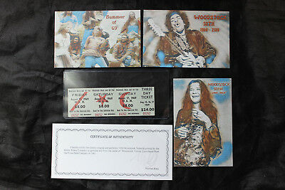 1 Authentic 3-Day Tickets from the Original 1969 Woodstock Festival 50th 2019