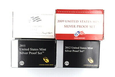 2007-2012 Modern United States Mint 90% Silver Proof Coin Sets Lot Of 22