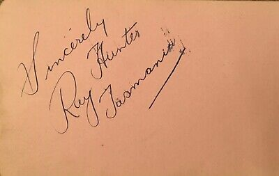 Ray Hunter The Famous Wrestler ( Tasmania ). Beryl Orde Actress Autographs