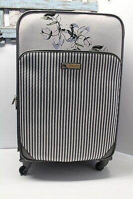 Vince Camuto 28-inch Spinner Luggage Floral Grey Expandable NWT $400