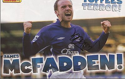 EVERTON: JAMES McFADDEN SIGNED A4 (12x8) MAGAZINE PICTURE+COA