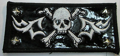 Skull Collectable Rare Vintage Patch Embroided Studded