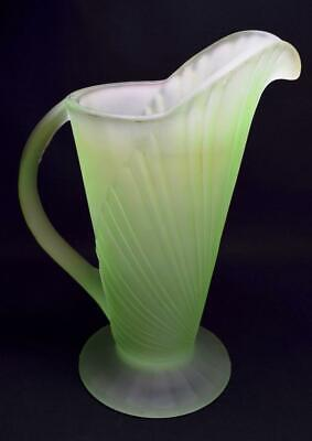 Art Deco Bagley Glass Sunburst Jug 1930s VGC