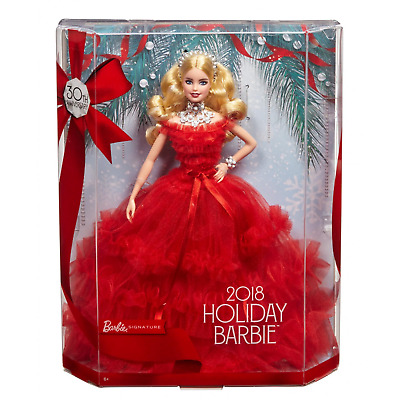 Barbie Signature 30th Anniversary 2018 Holiday Barbie Doll Mattel Blonde NEW