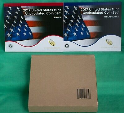 2017 ANNUAL US Mint Uncirculated Coin Set with 20 P and D Coins Complete