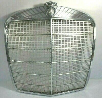 65 Mercedes Benz Metal Grill With Emblem Radiator Cover Vintage Car Repair Parts