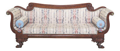 30723EC: Antique Federal Style Duncan Phyfe Mahogany Sofa