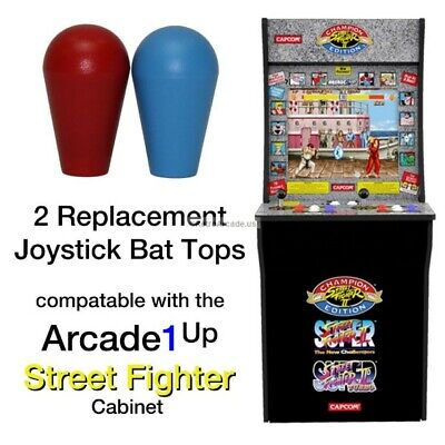 Arcade1up Street Fighter 2 Rampage, Jamma, MAME, 2 Joystick Bat Top Handles, New