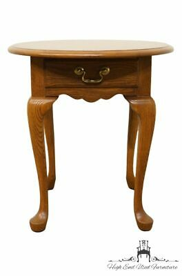 """PENNSYLVANIA HOUSE Solid Oak Country French 21x25"""" Oval Accent End Table 24-1102"""