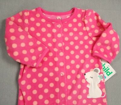 1c107b143 New Child Of Mine By Carter's 3-6 Month Baby Girl Polka Dot Fleece Footed