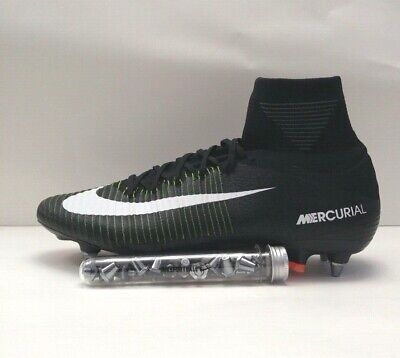6e24bfc687e2 Nike Mercurial Superfly V SG-PRO Size 12.5 Black Electric Green Blue 831956 -014