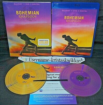 Bohemian Rhapsody (Blu-Ray, DVD, Digital, w/Slipcover, 2019) MINT LN