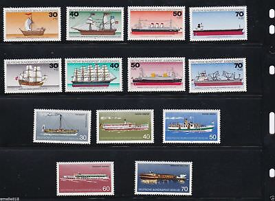 German stamps 1975 1977 Youth Welfare, Passenger Ships.3 Sets. MNH.