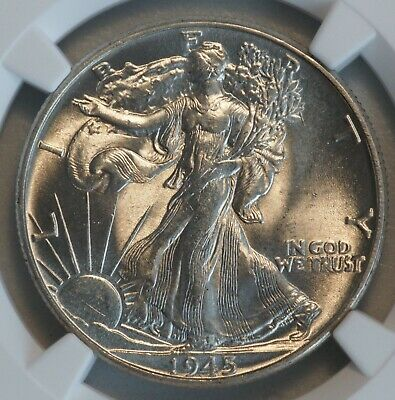1945 Walking Liberty Silver Half Dollar (NGC MS63 MS 63) US Coin UNC A7898