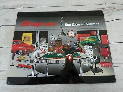 Snap On Tools Dog Daze of Summer Tin Sign Playing Poker 15 x 12 Muscle Cars