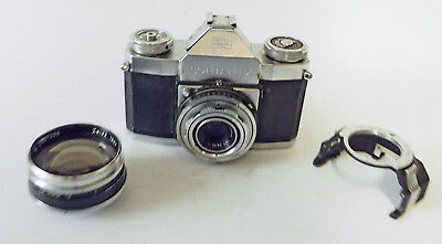 Zeiss Contaflex 1 With Acc. Shoe And Zeiss 1.7X Aux Lens