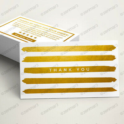 250 Thank You Business Cards for Ebay Etsy Amazon Full Color 16pt Gloss or Matte
