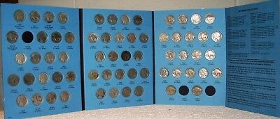 1913-1938 Buffalo Nickels In Whitman Folder