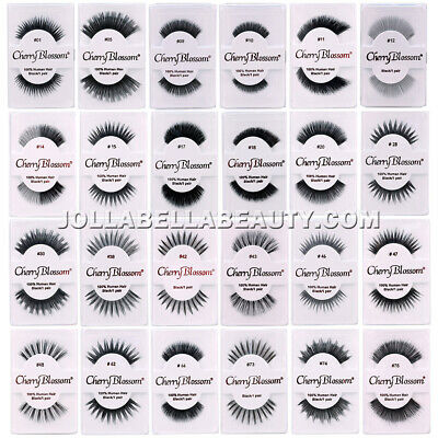 10b82a586a2 Cherry Blossom 100% Human Hair Eyelashes False Extension Makeup #1~#805 *