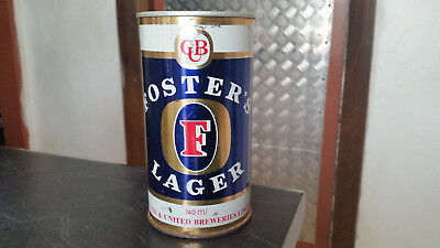 vintage  fosters lager 740ml tin beer can