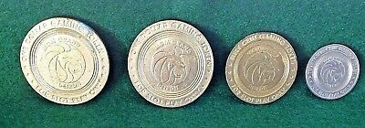 Slot Tokens 4 Lot MGM Grand Casino Detroit 1999 Opening 25 Cent 50 cent + $1 +$1