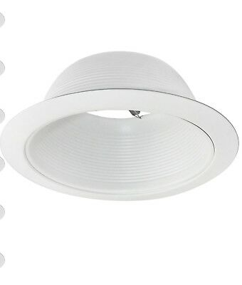 Torchstar 6 Inch Recessed Can Light Trim With White Metal