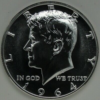 1964 50C Silver Kennedy Half Dollar, PROOF, UNC, JFK, 90% Silver, #13305