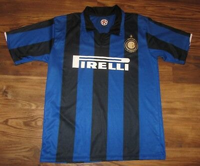 sneakers for cheap 944ee 4885e INTER MILAN 100TH Anniversary Men's Soccer Jersey, Pirelli ,Size XL, Blue,  EUC