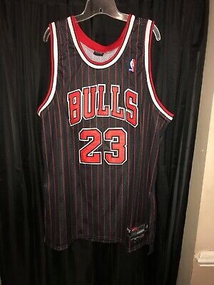 new arrival bf0f5 74130 NIKE MICHAEL JORDAN 1984 Chicago Bulls Jersey Black Flight 8403 XL 52 RARE