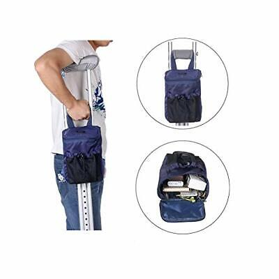 Crutches Bag Pouch Crutch Storage Pocket Caddy Carry On Tote for Broken Leg