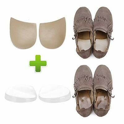 Medial & Lateral Heel Wedge Silicone Insoles - Corrective Adhesive Shoe Inserts