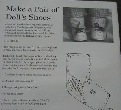 Doll Lace Up Shoes pattern
