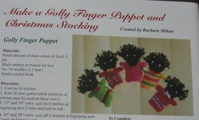 CUTE PEOPLE FINGER PUPPET & CHRISTMAS STOCKING patterns