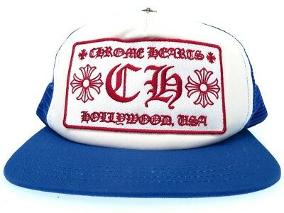 dedf0bf6475 AUTHENTIC CHROME HEARTS Tracker cap CHPlat patch mesh cap with crossballhat  .