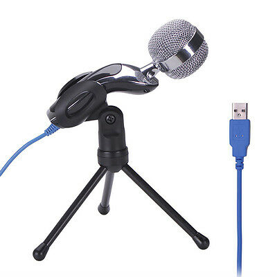 Audio Professional USB Condenser Microphone Sound Recording Mic Studio + Stand