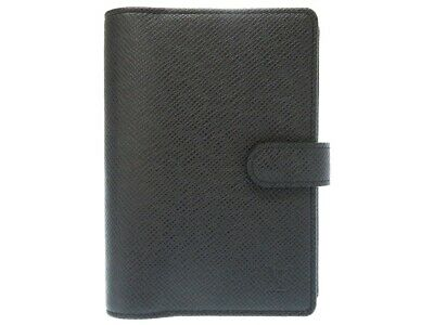 AUTHENTIC LOUIS VUITTON R20426 AgendaPM Handbook cover Ardoise Taiga 0412