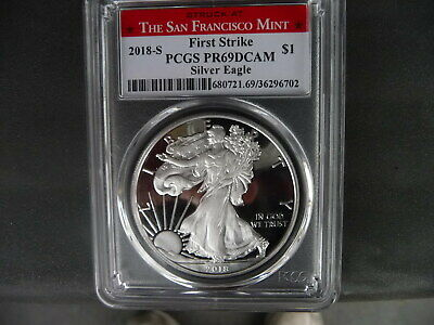 2018 s silver American eagle PCGS PR 69 DCAM First Strike