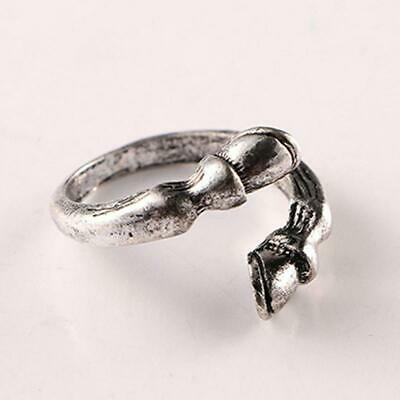 Lucky Horseshoe Ladies Ring Silver Wedding Jewelry Adjustable Opening Ring 6L