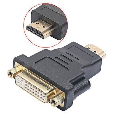 DVI-I Dual Link 24+5pin Female to HDMI Male Converter Adapter for HDTV DVD LCD