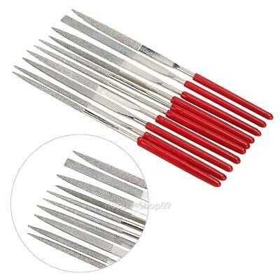 10pcs Guitar Fret Crowning Luthier File Stainless Small Dual Cutting Edge Tools