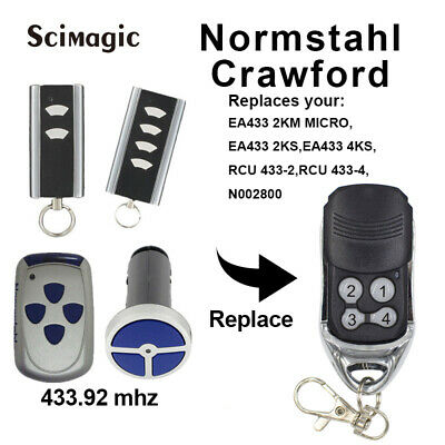 Normstahl T433-4 Compatible Remote Control 433.92Mhz Rolling Code Transmitter X1